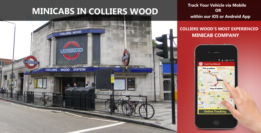 minicab-in-Colliers Wood