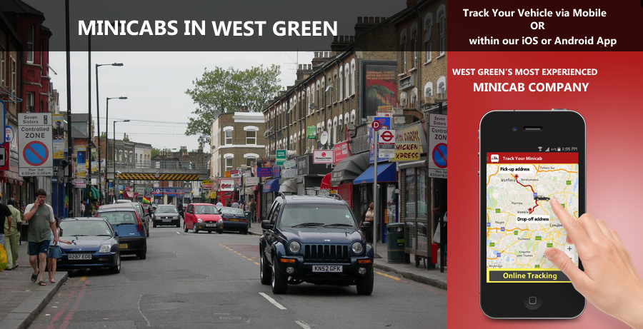 minicab-in-West Green