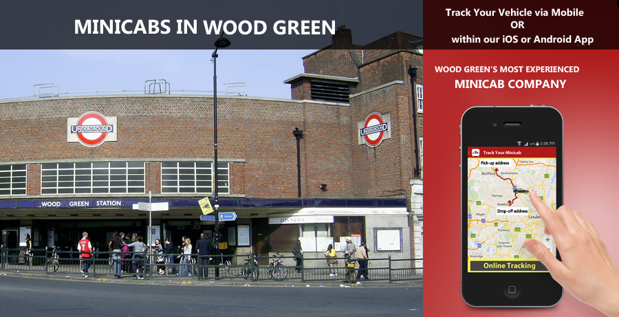 Minicab in Wood Green - +44 208 204 4444 - Taxi in Wood